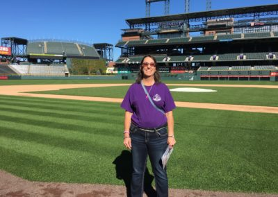 Standing on the Coors Field!!!