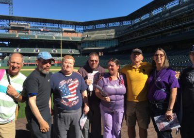 Touring Coors Field.